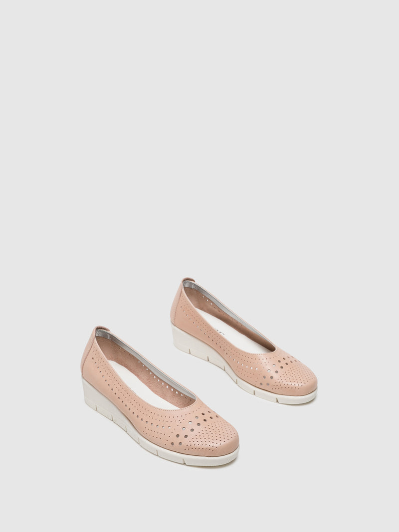 LightPink Wedge Shoes