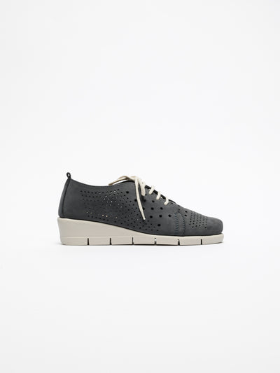 The Flexx Navy Lace Fastening Shoes