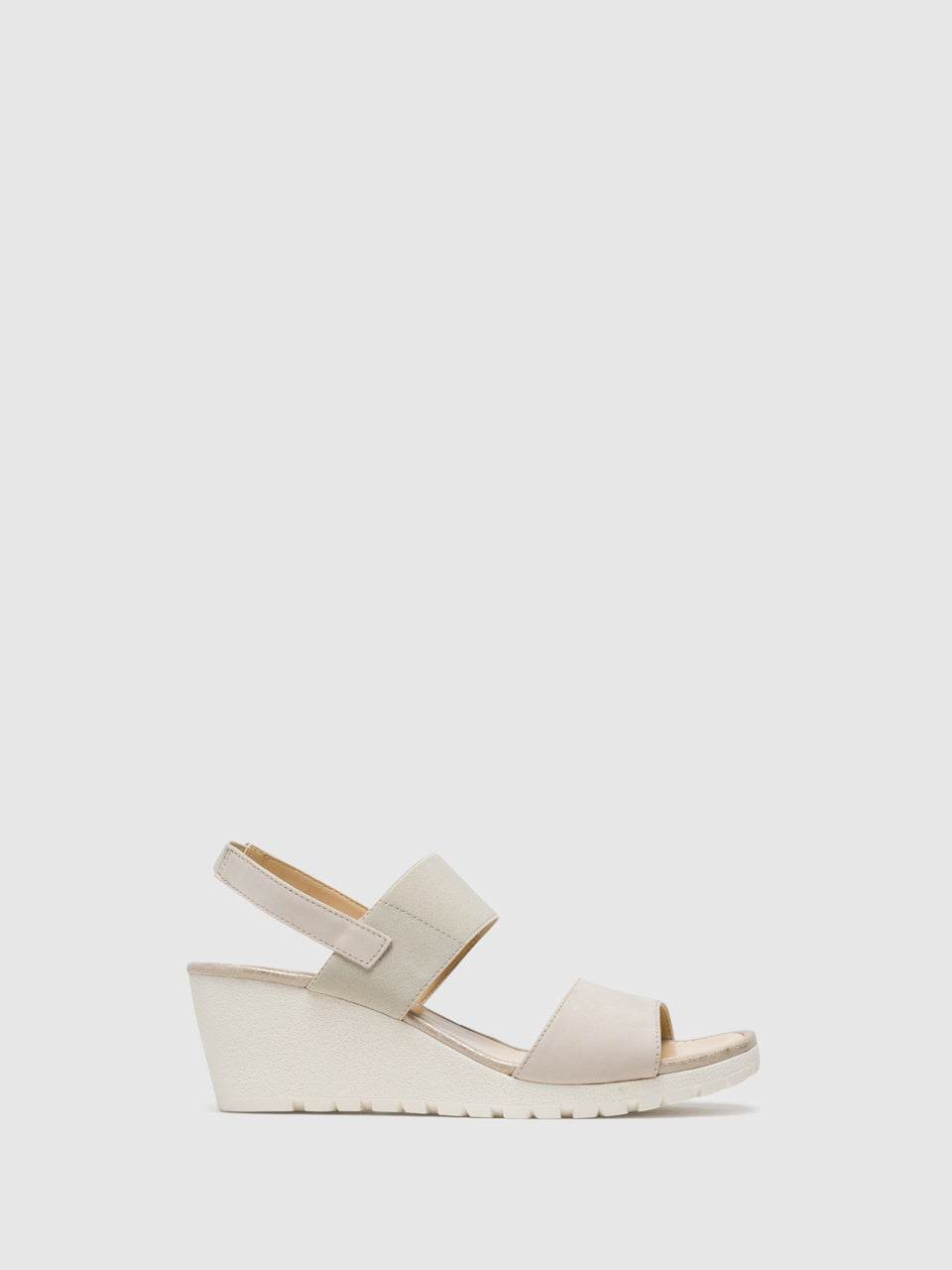 The Flexx Beige Wedge Sandals