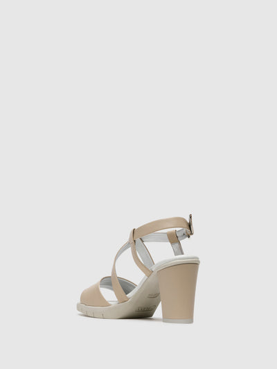 The Flexx Beige Crossover Sandals