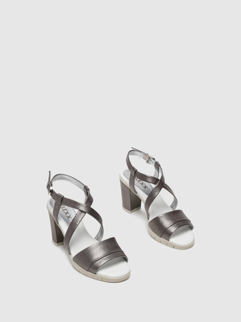 The Flexx Silver Crossover Sandals