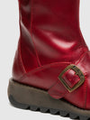 Fly London Red Buckle Boots