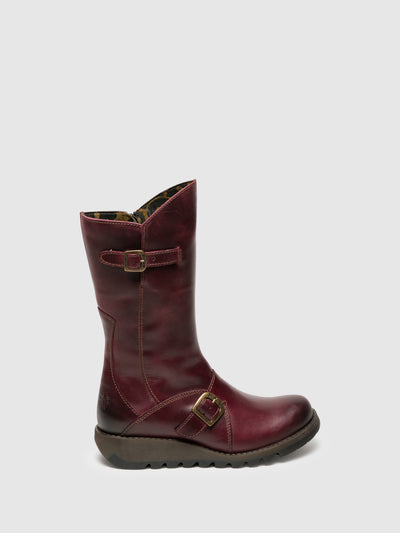 Fly London Purple Buckle Boots