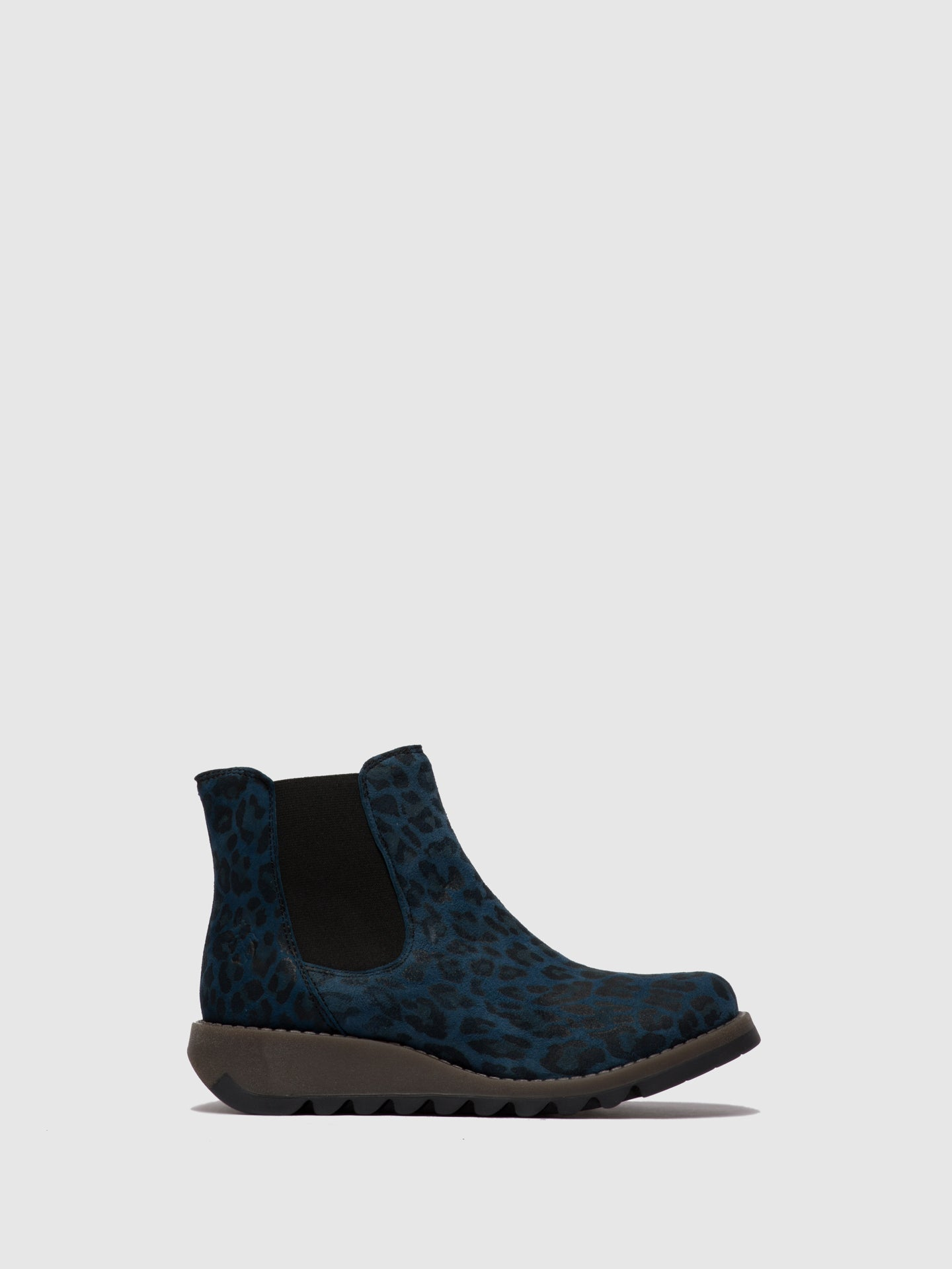 Fly London Chelsea Ankle Boots SALV CHEETAH NAVY
