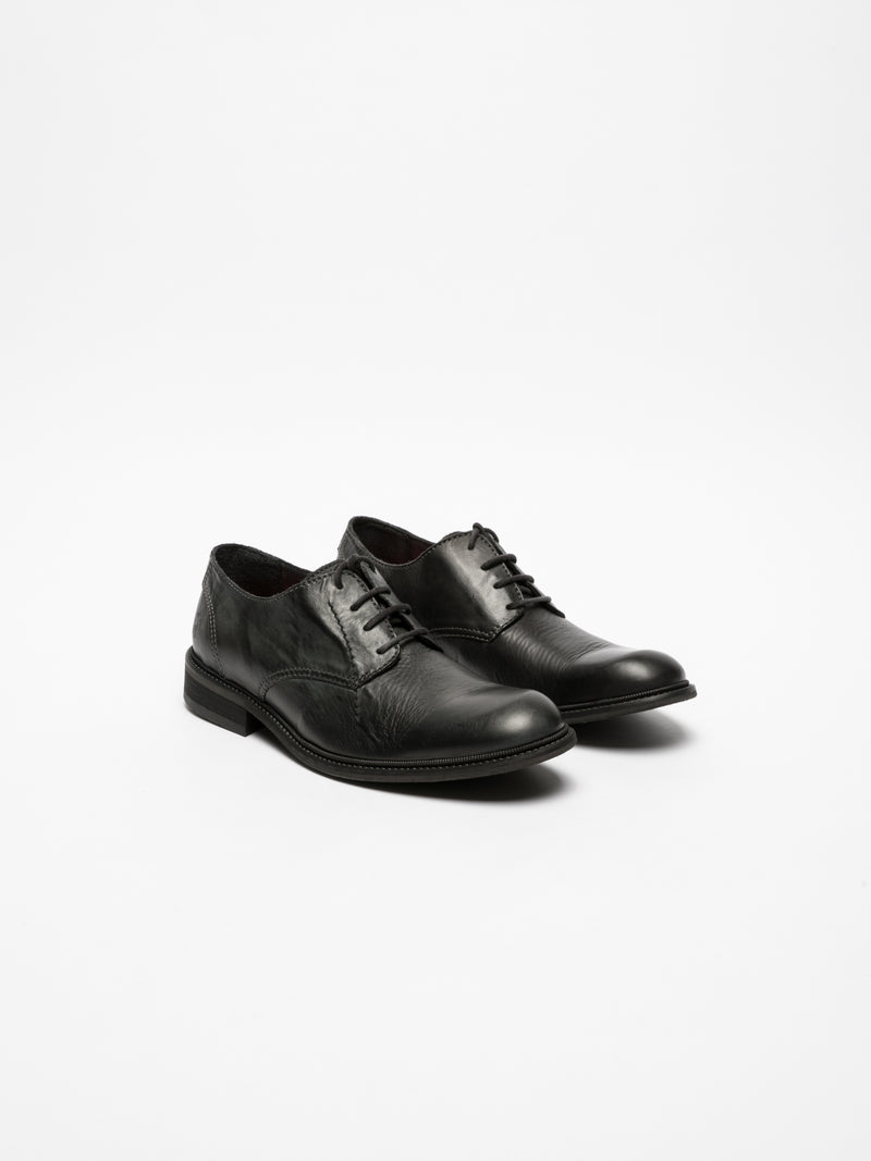 Fly London Black Derby Shoes