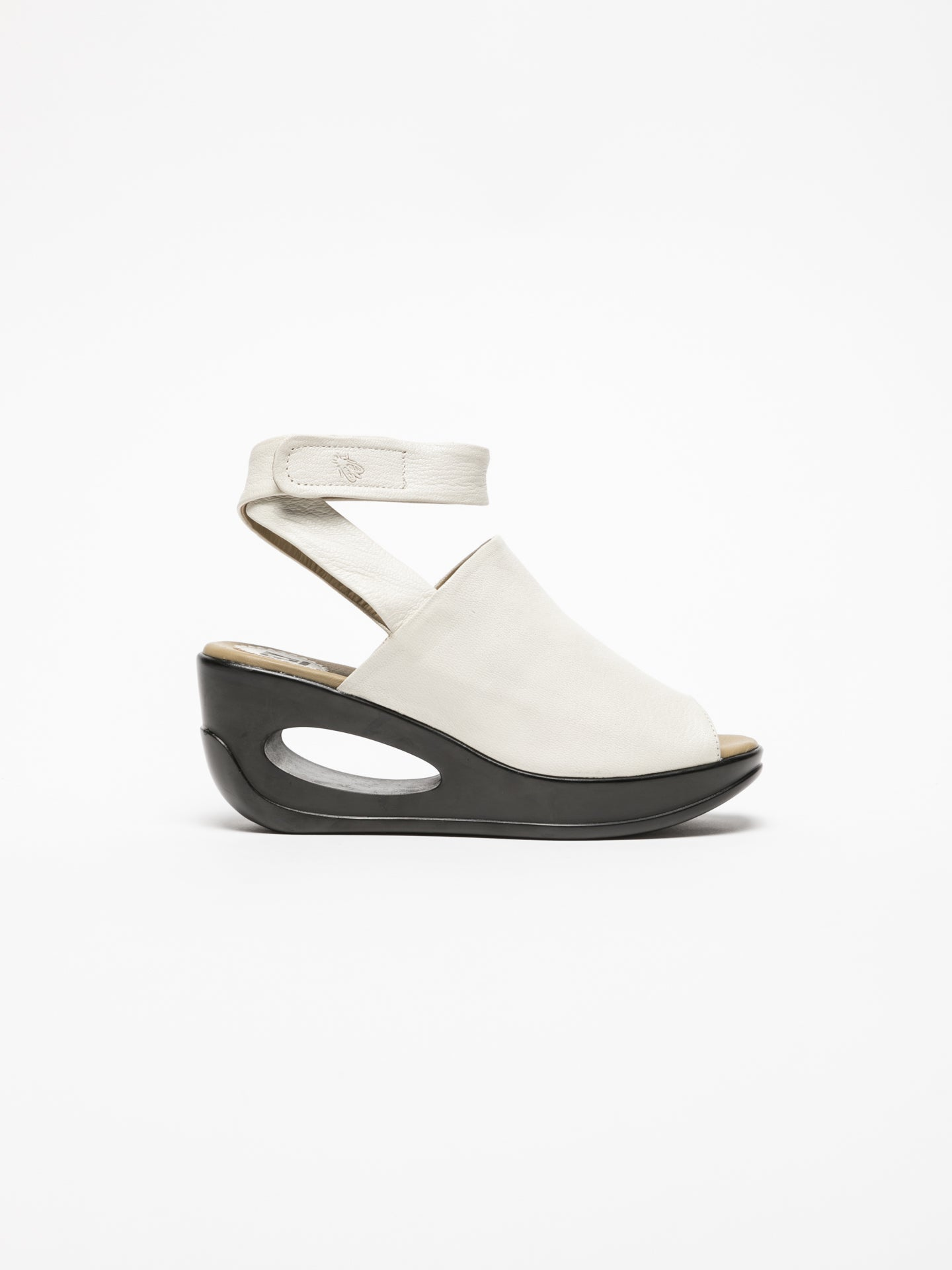 Fly London White Wedge Sandals