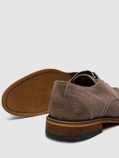 Fly London Tan Derby Shoes