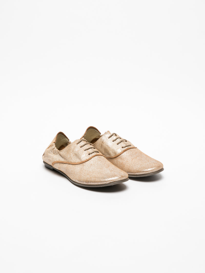 Beige Oxford Shoes