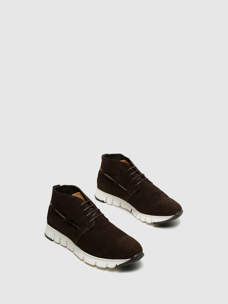 Brown Hi-Top Trainers