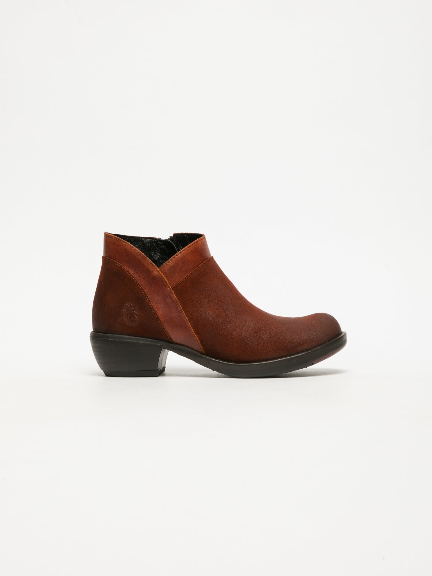 Fly London DarkRed Zip Up Ankle Boots