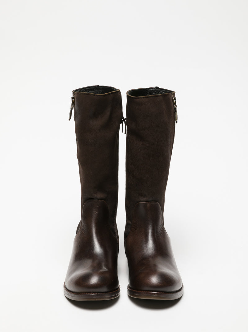Brown Zip Up Boots