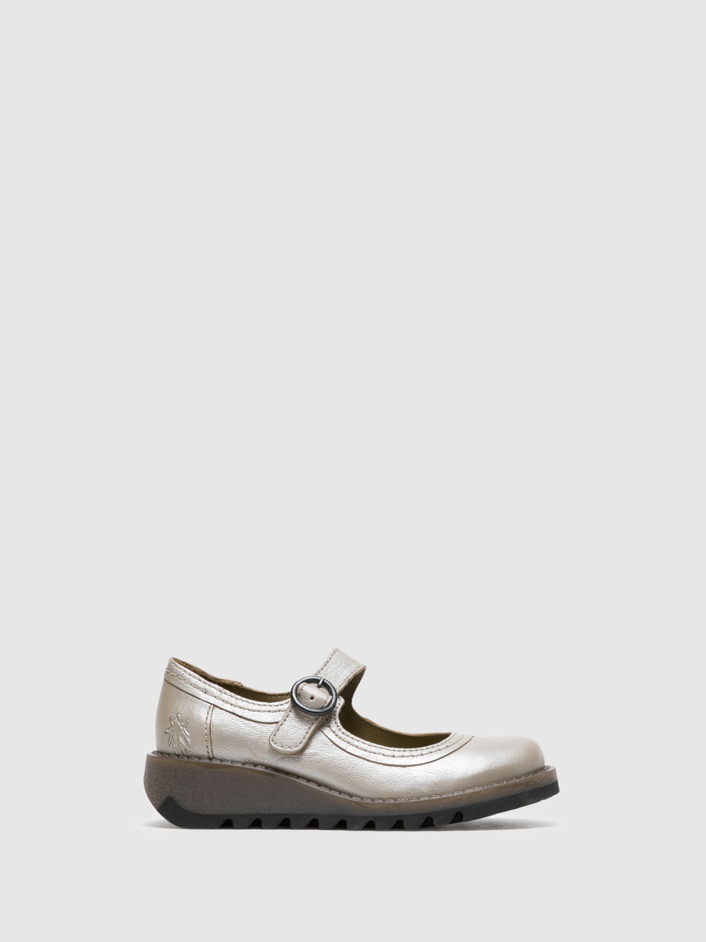Fly London Silver Monk Shoes