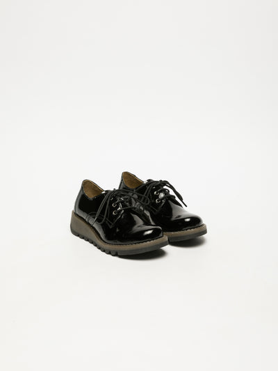 Fly London Black Lace Fastening Shoes