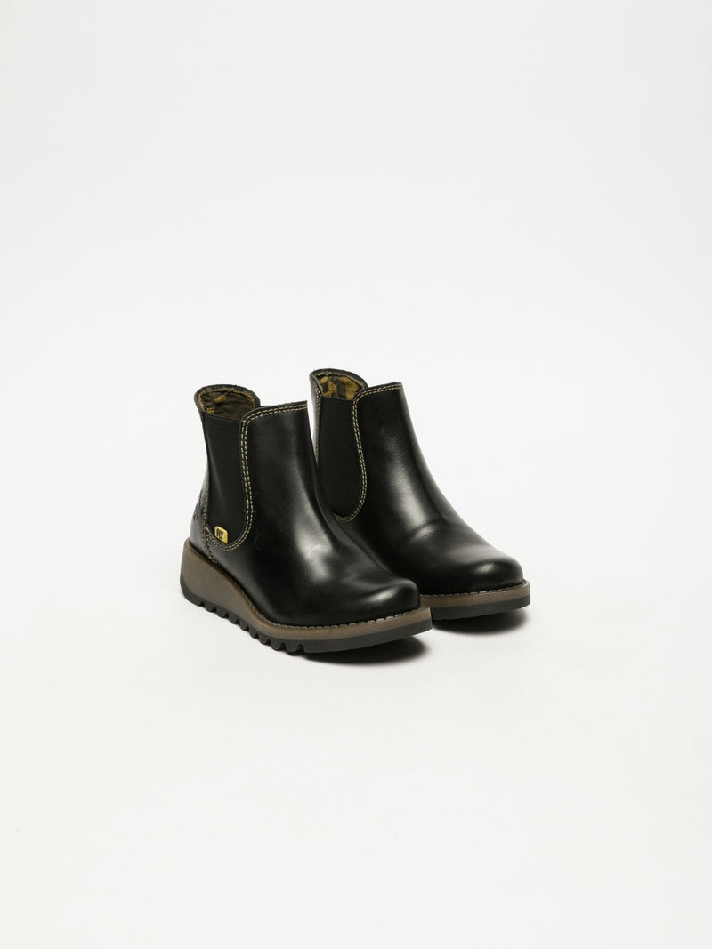 Coal Black Chelsea Ankle Boots