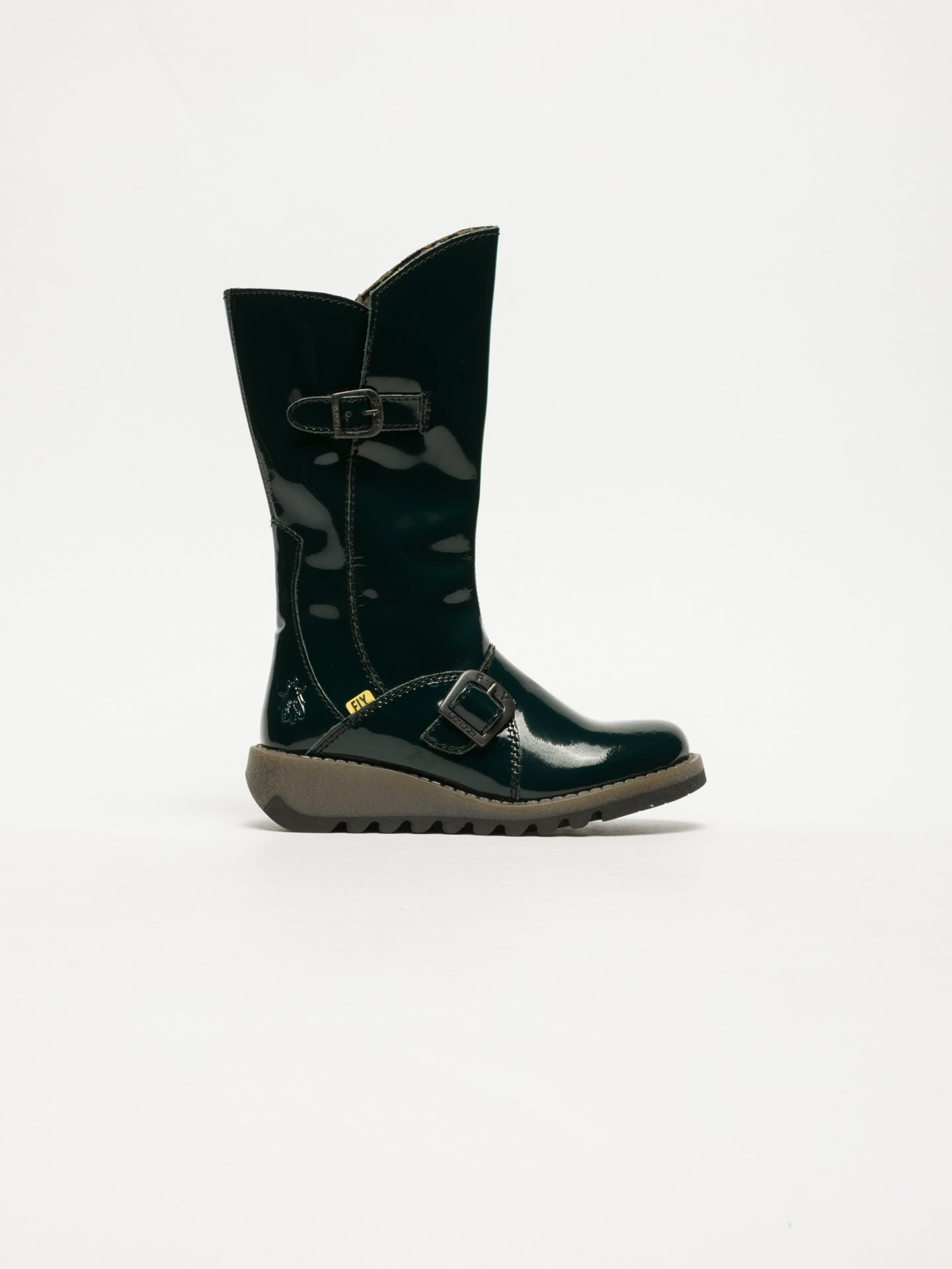 Fly London DarkGreen Buckle Boots