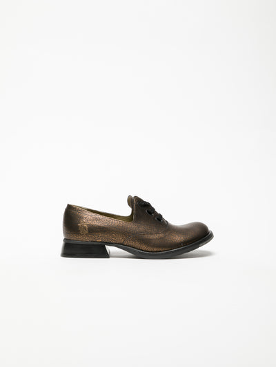 Fly London SandyBrown Oxford Shoes