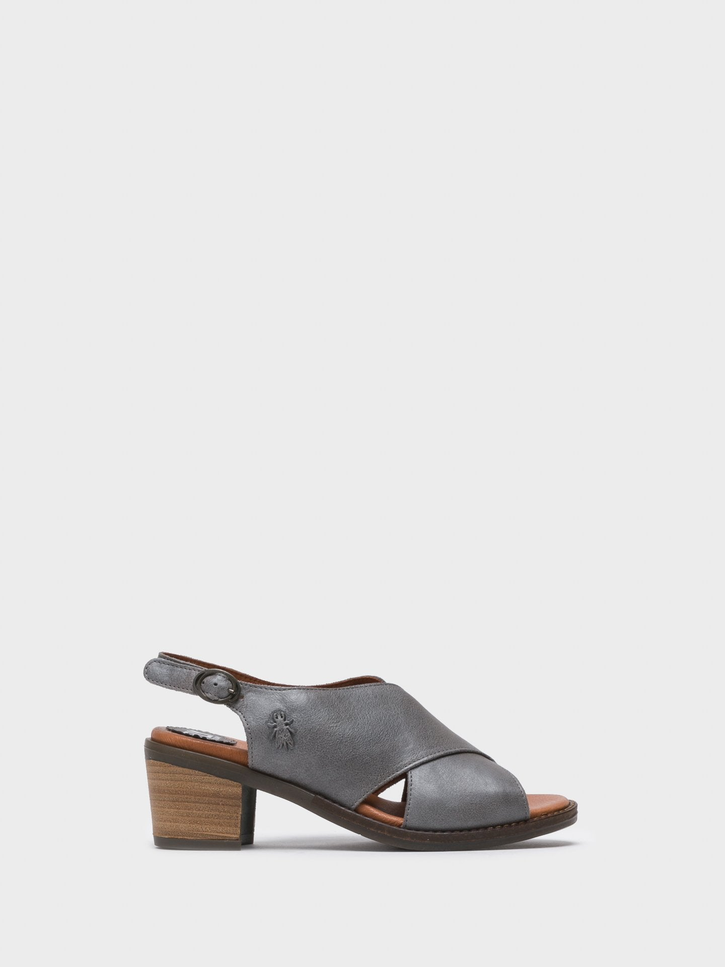 Fly London Gray Sling-Back Sandals