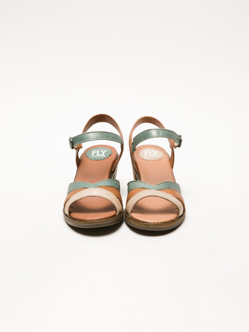Fly London Multicolor Buckle Sandals