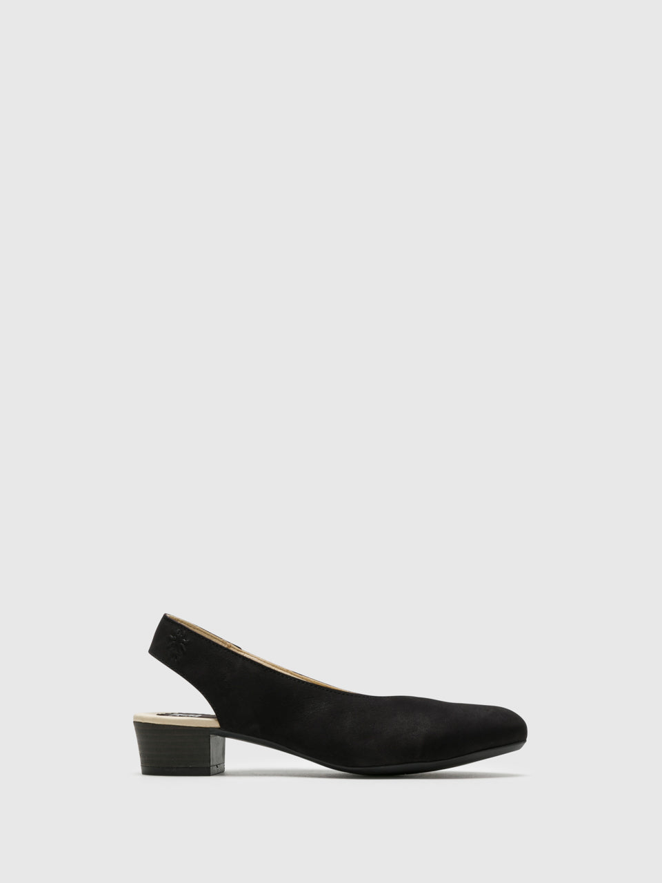 Fly London Black Sling-Back Pumps Shoes