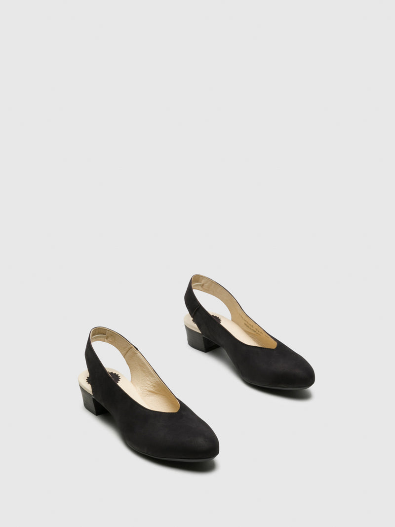 Black Sling-Back Pumps Shoes