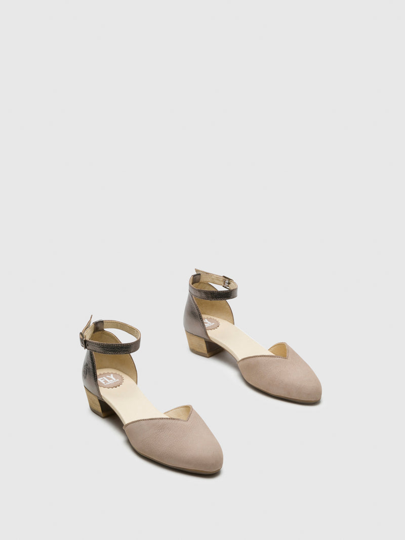 Fly London SandyBrown Ankle Strap Sandals