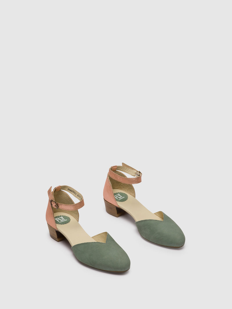 PaleGreen Ankle Strap Sandals