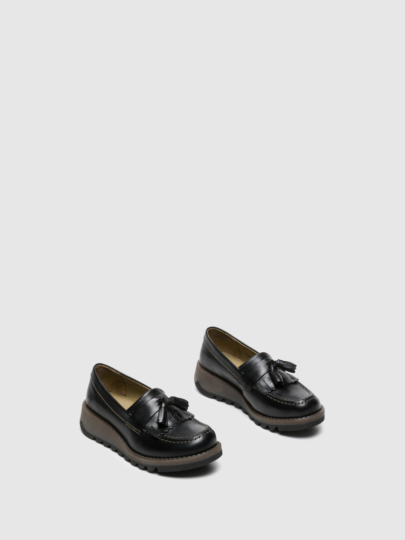 Coal Black Loafers Shoes