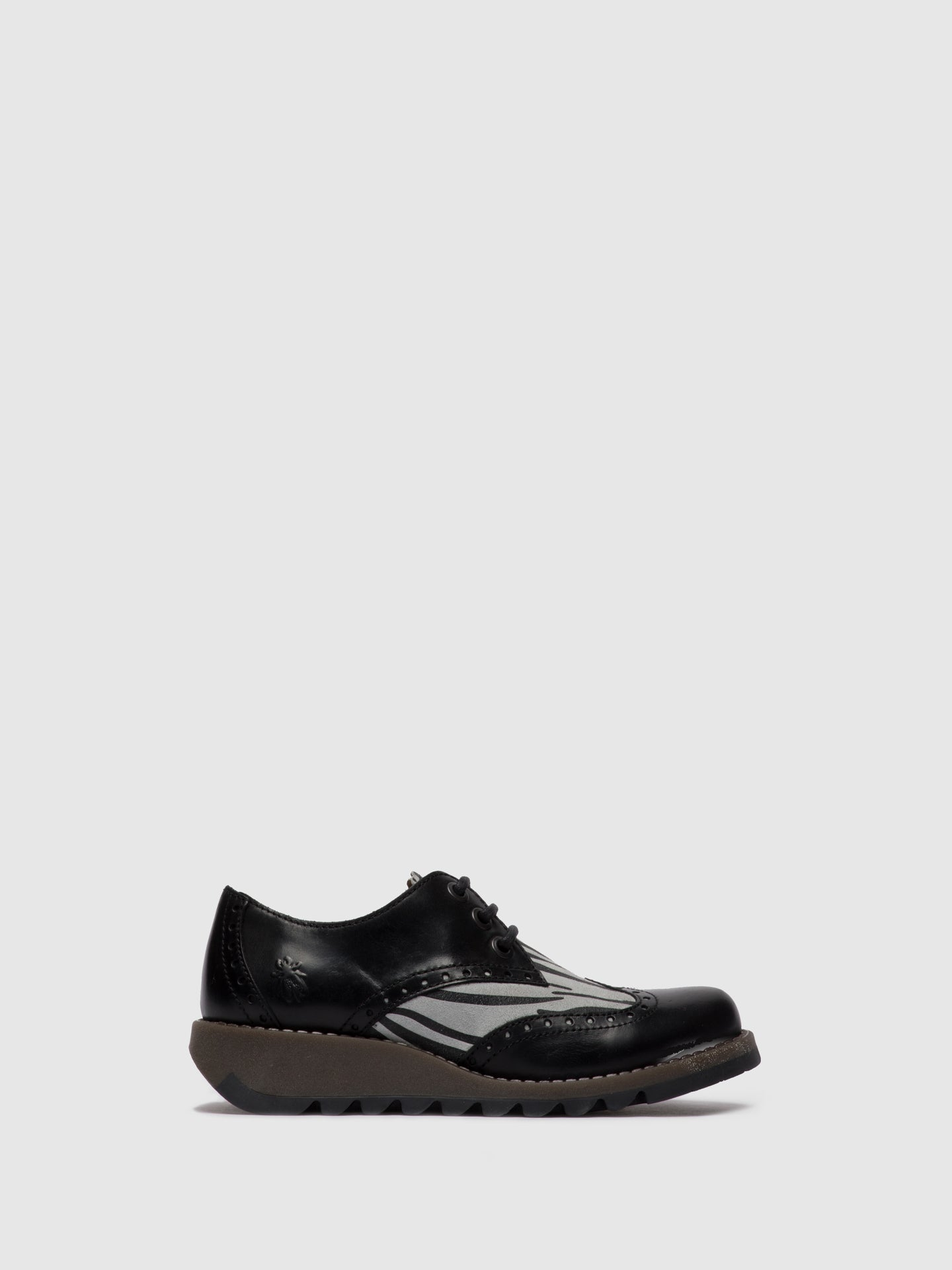 Fly London Oxford Shoes SUME524FLY RUG/ZEBRA BLACK/OFFWHITE