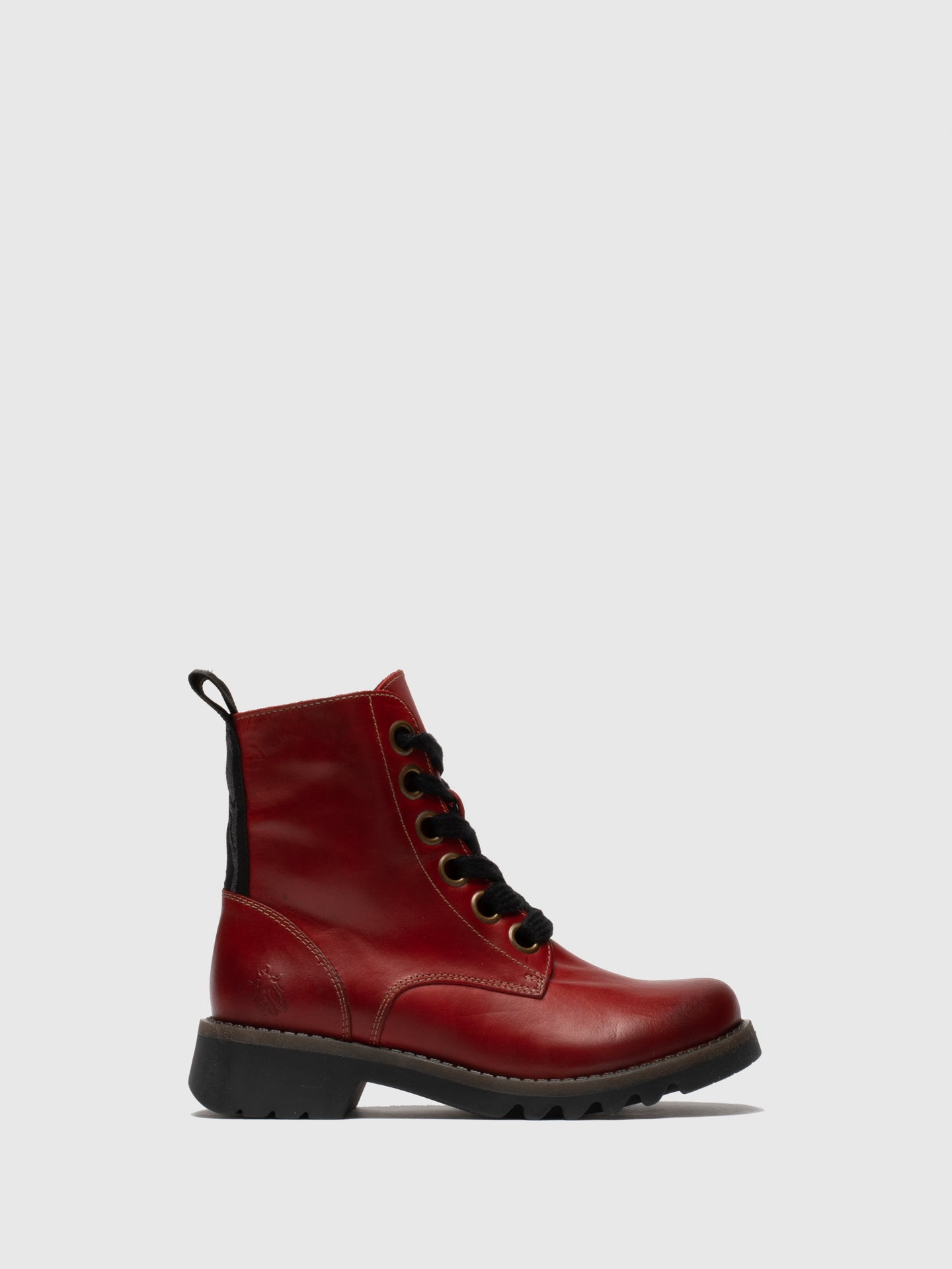 Fly London Lace-up Ankle Boots RAGI539FLY RED