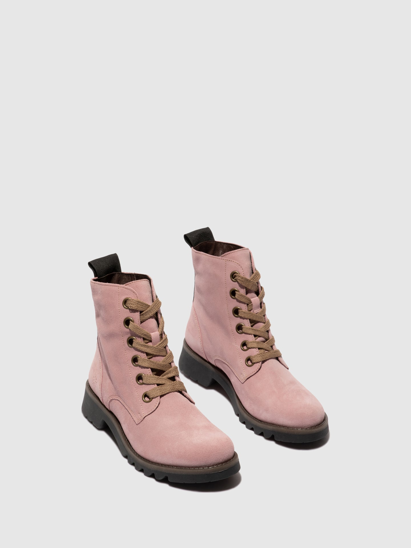 Fly London Lace-up Ankle Boots RAGI539FLY PINK