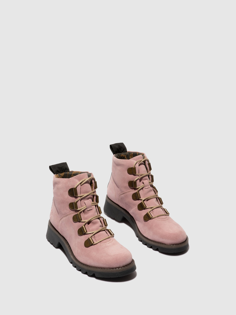 Fly London Lace-up Ankle Boots ROJI544FLY PINK