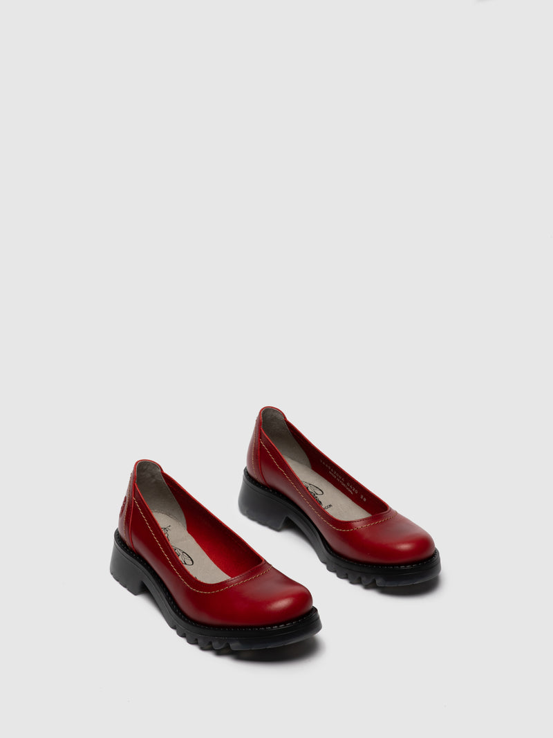 Red Round Toe Shoes