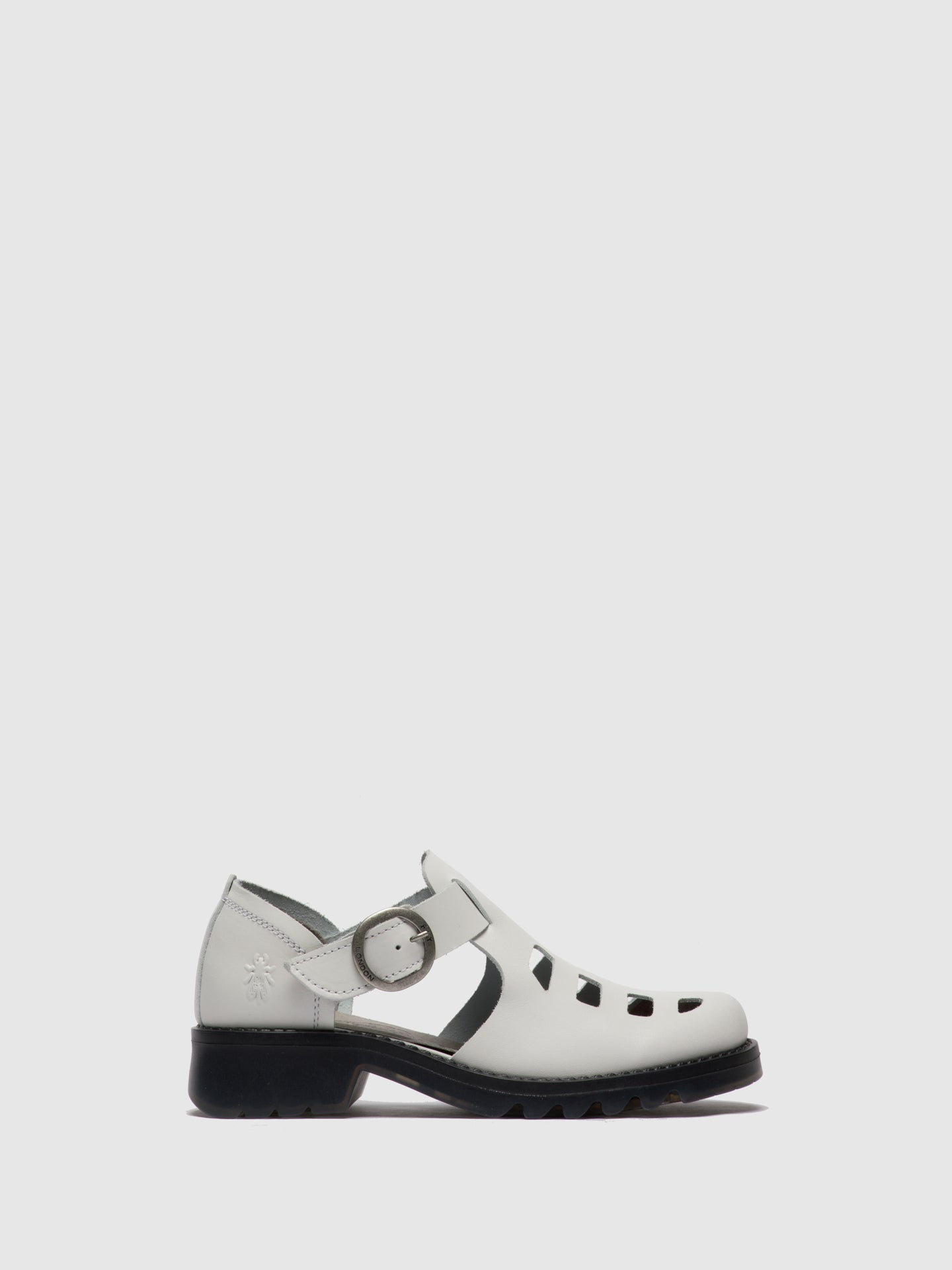 Fly London White Buckle Shoes