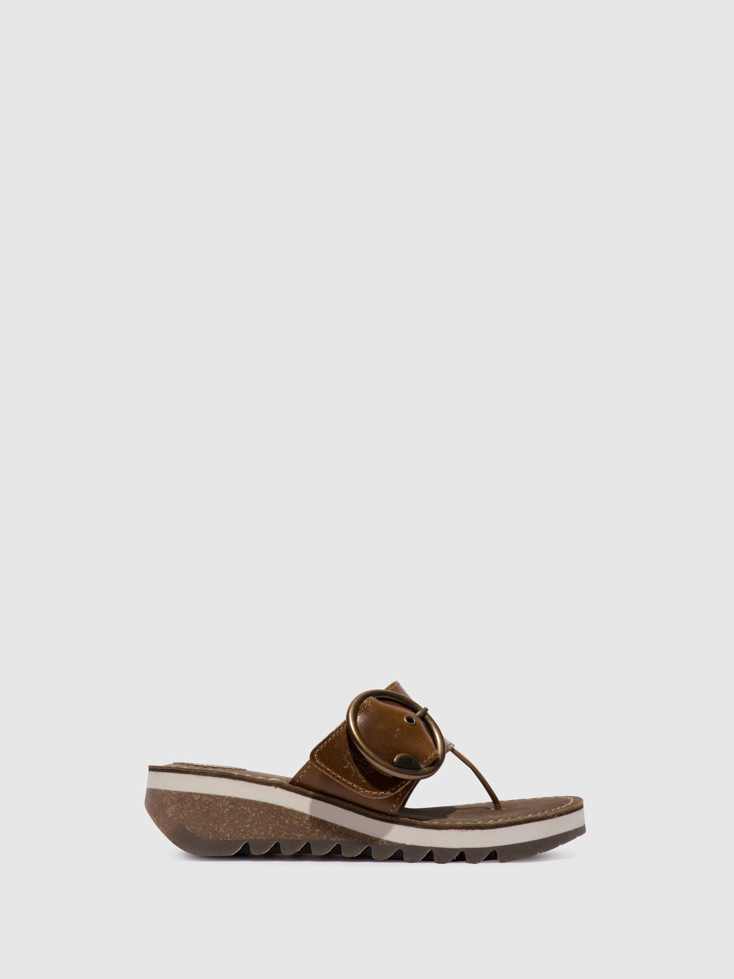 Fly London Camel Open Toe Sandals