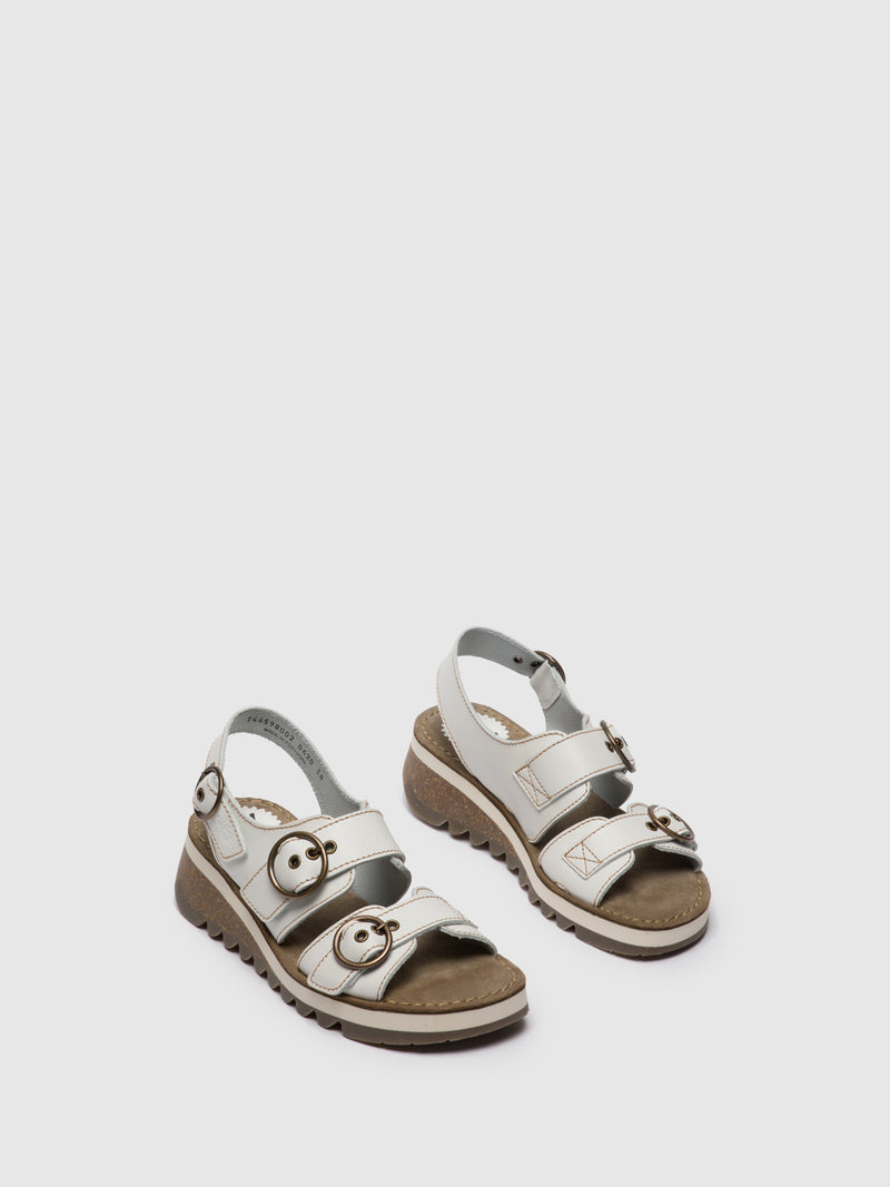 White Buckle Sandals
