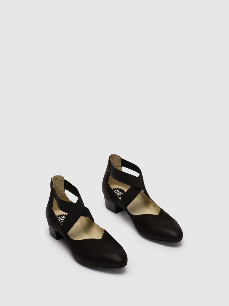Fly London Black Elasticated Shoes