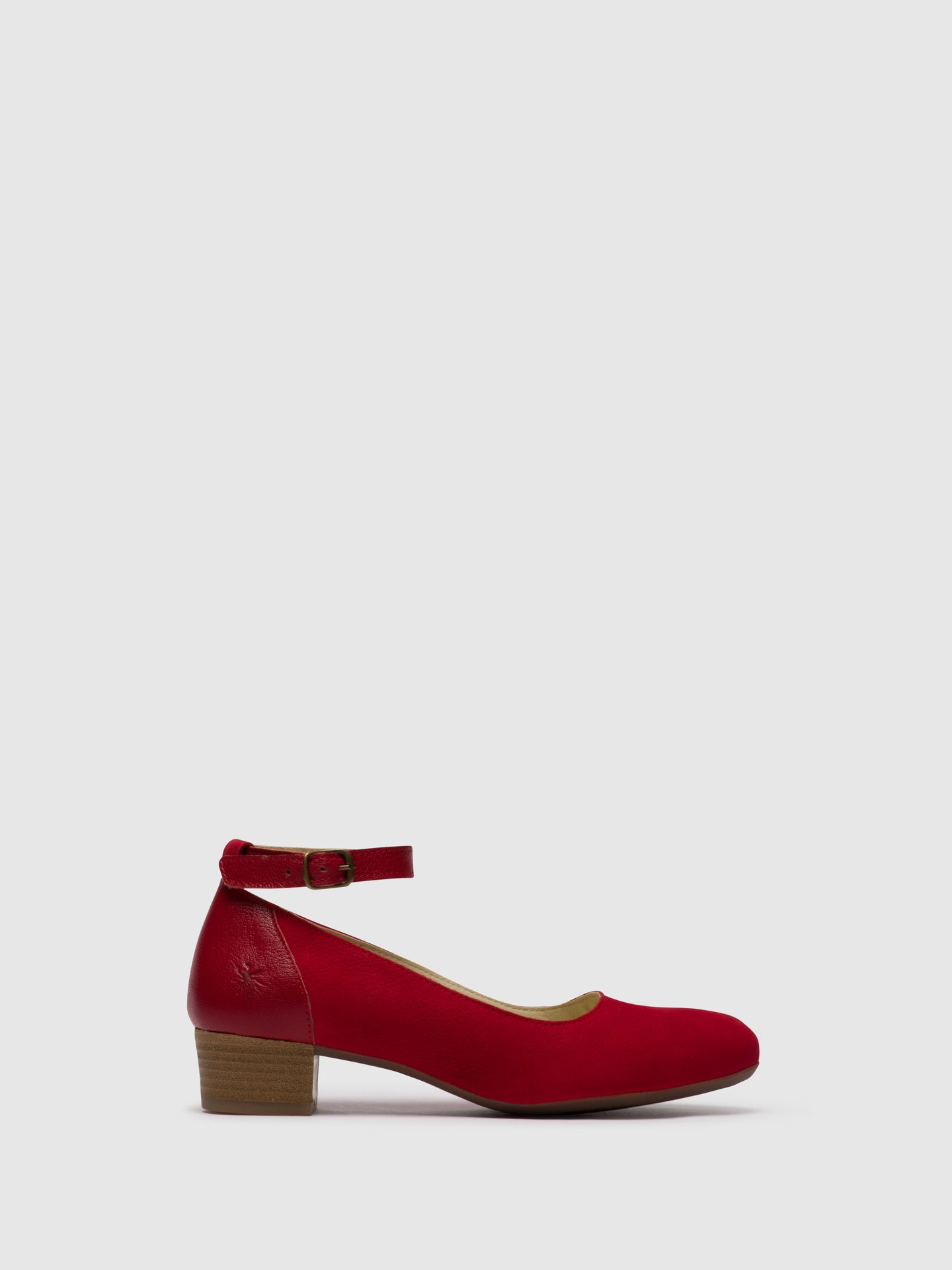 Fly London Firebrick Ankle Strap Shoes