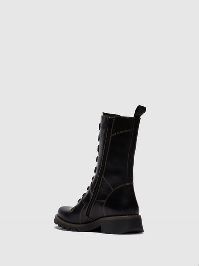 Fly London Lace-up Boots REBA640FLY RUG BLACK