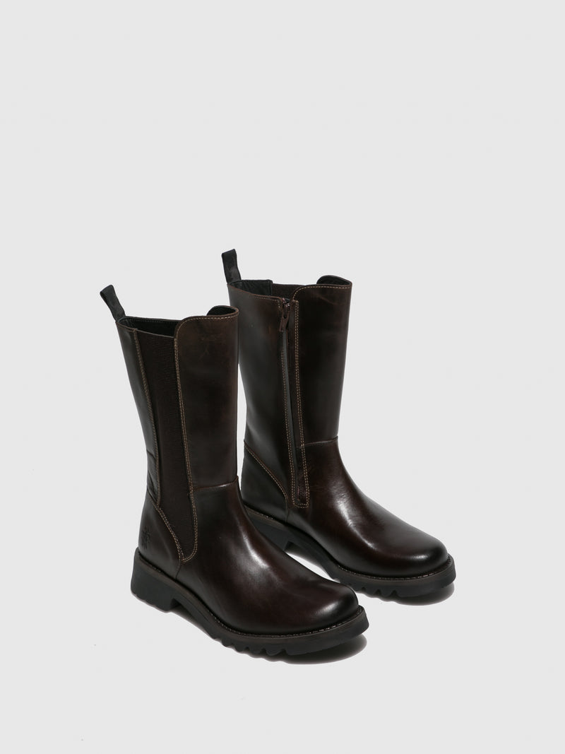 Fly London Chelsea Boots RELM641FLY RUG DK.BROWN