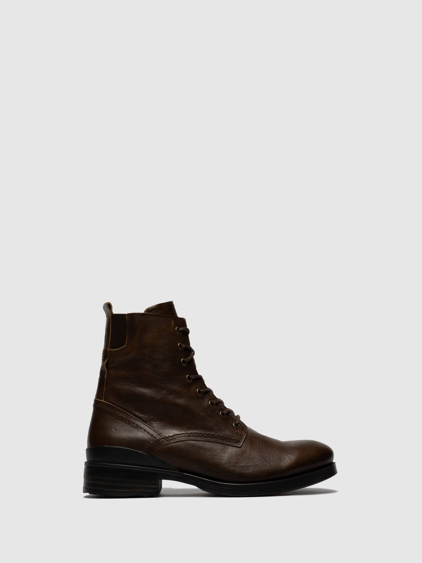 Fly London Lace-up Ankle Boots MORS650FLY ESTIGMA(VEGETAL) BROWN