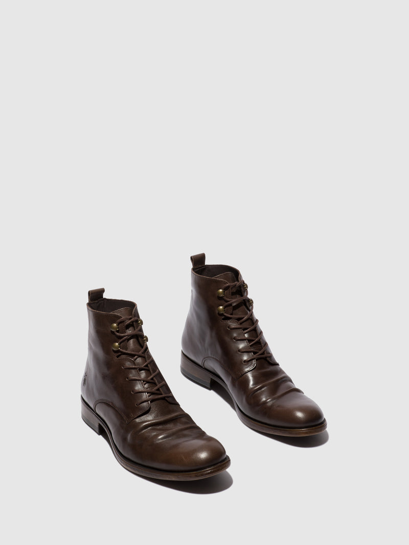 Lace-up Ankle Boots MYKE660FLY ECO(VEGETAL) MOCCA