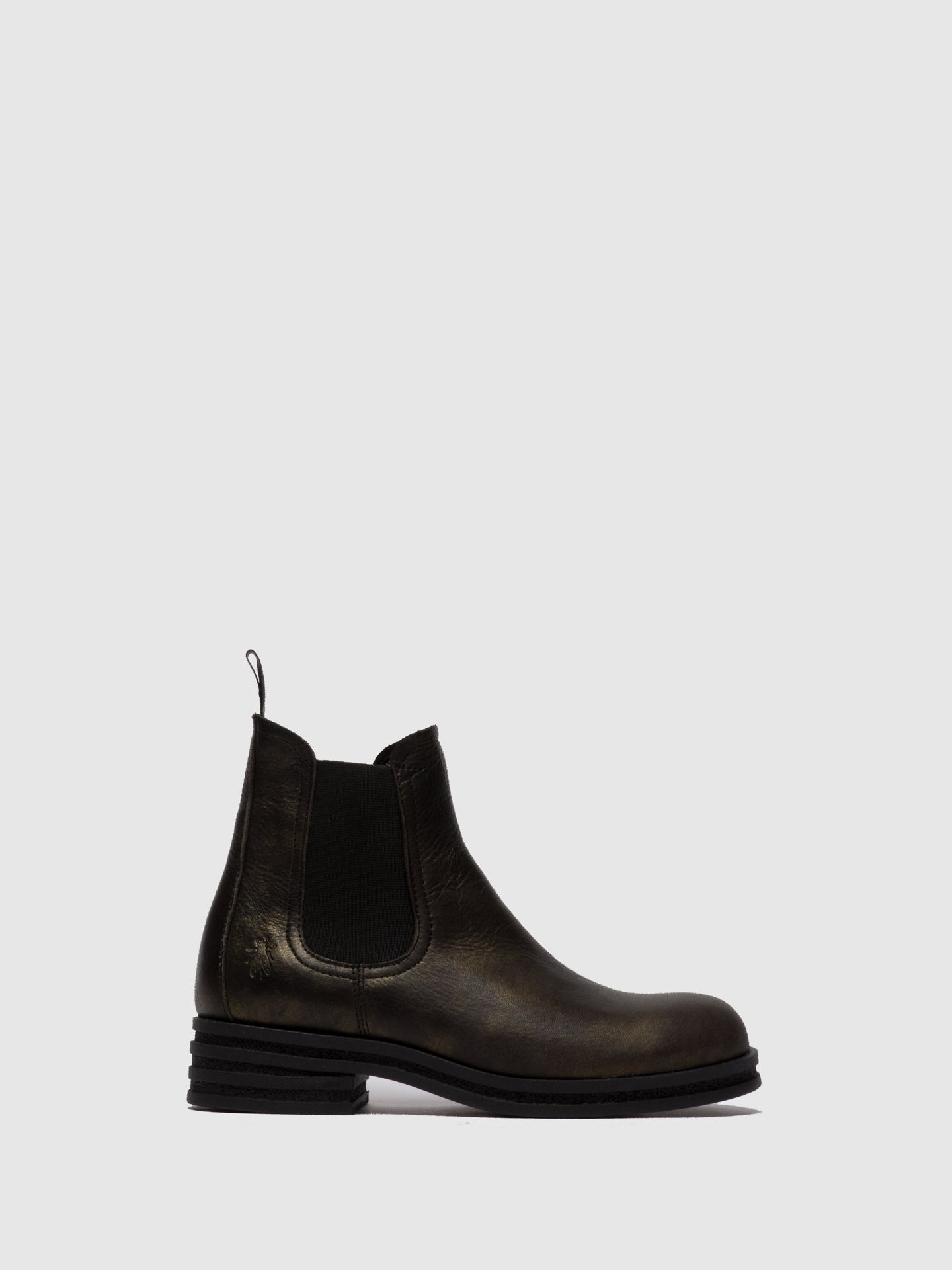 Fly London Chelsea Ankle Boots KEPA666FLY CICERO BLACK GOLD
