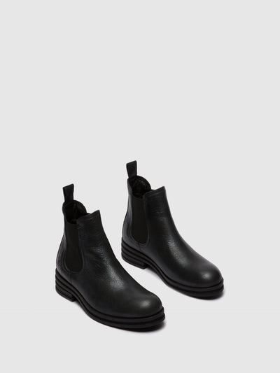 Fly London Chelsea Ankle Boots KEPA666FLY CICERO BLACK SILVER