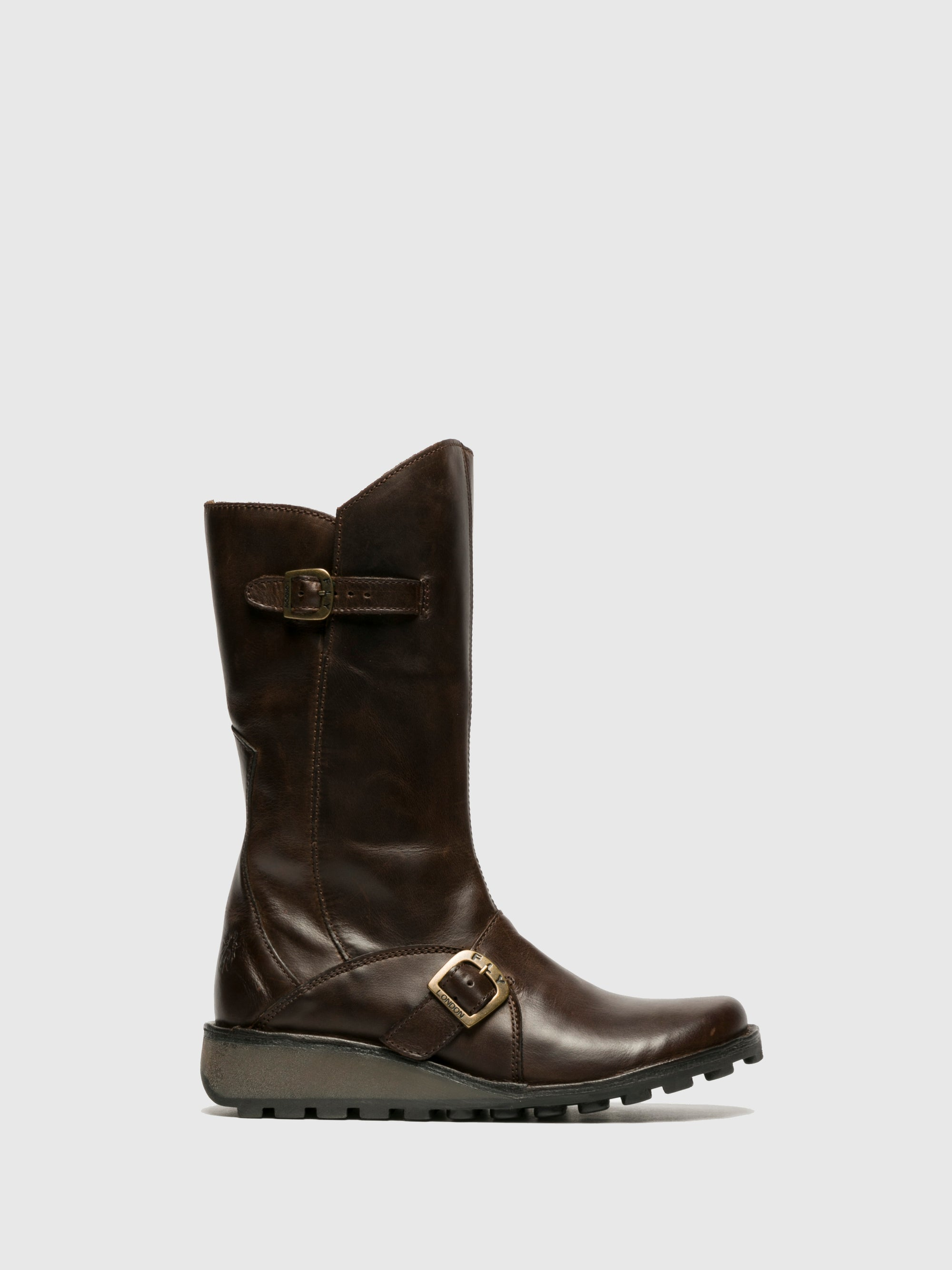 Fly London Brown Buckle Boots