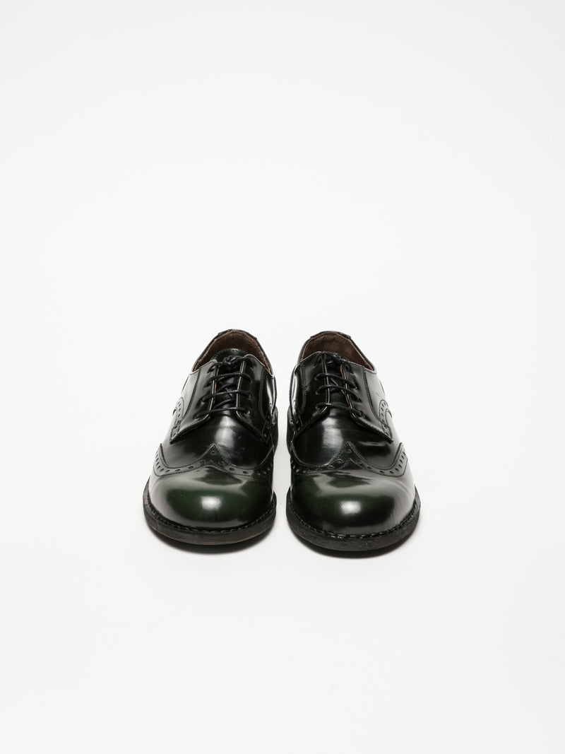 Fly London DarkGreen Derby Shoes