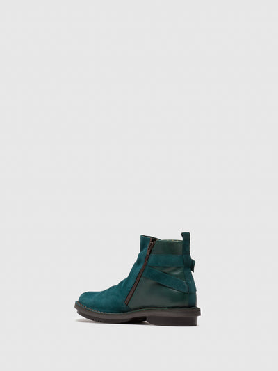 Fly London DarkCyan Zip Up Ankle Boots