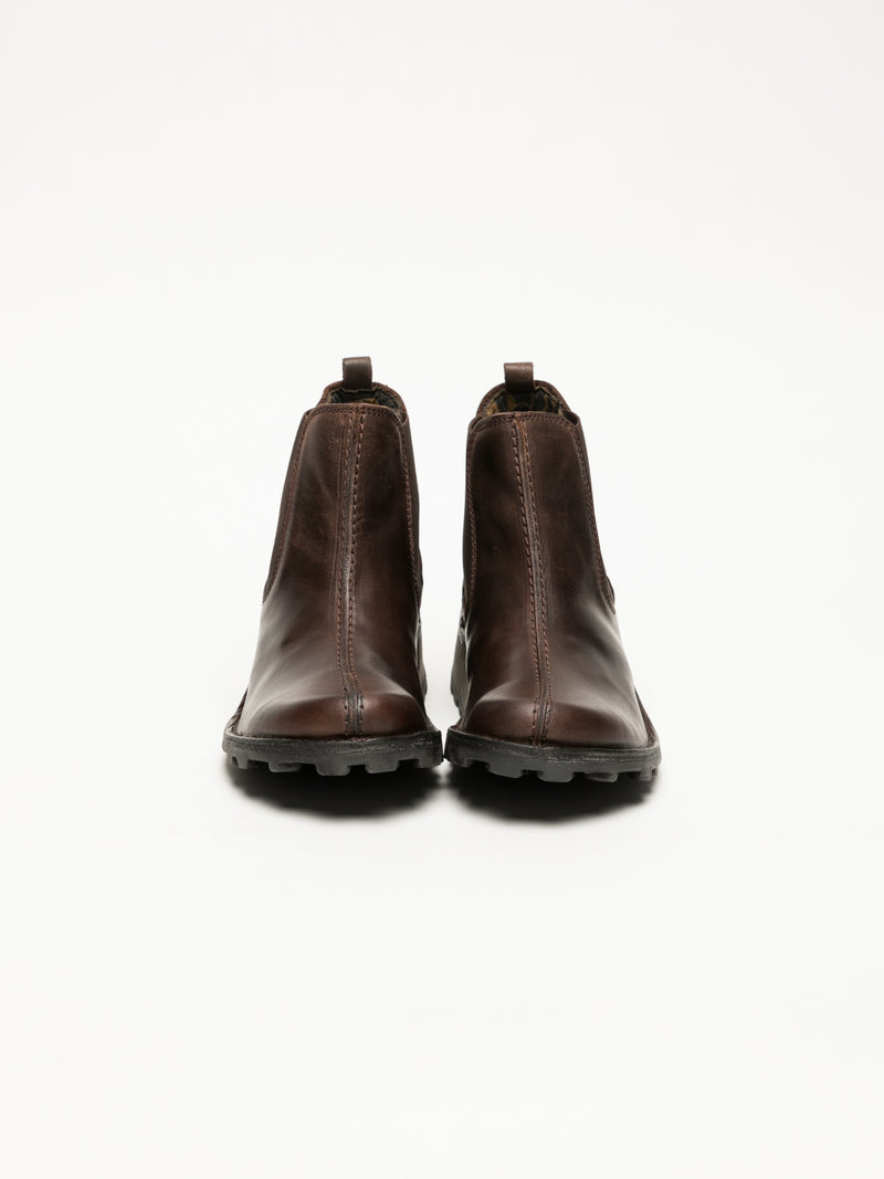 SaddleBrown Chelsea Ankle Boots
