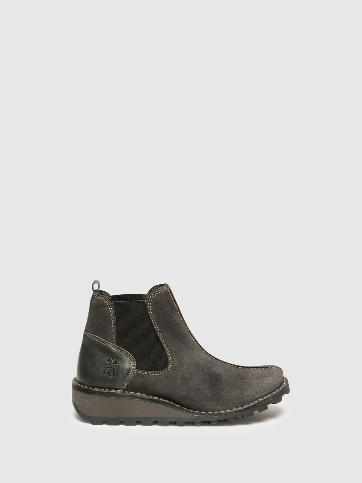 Fly London Gray Chelsea Ankle Boots