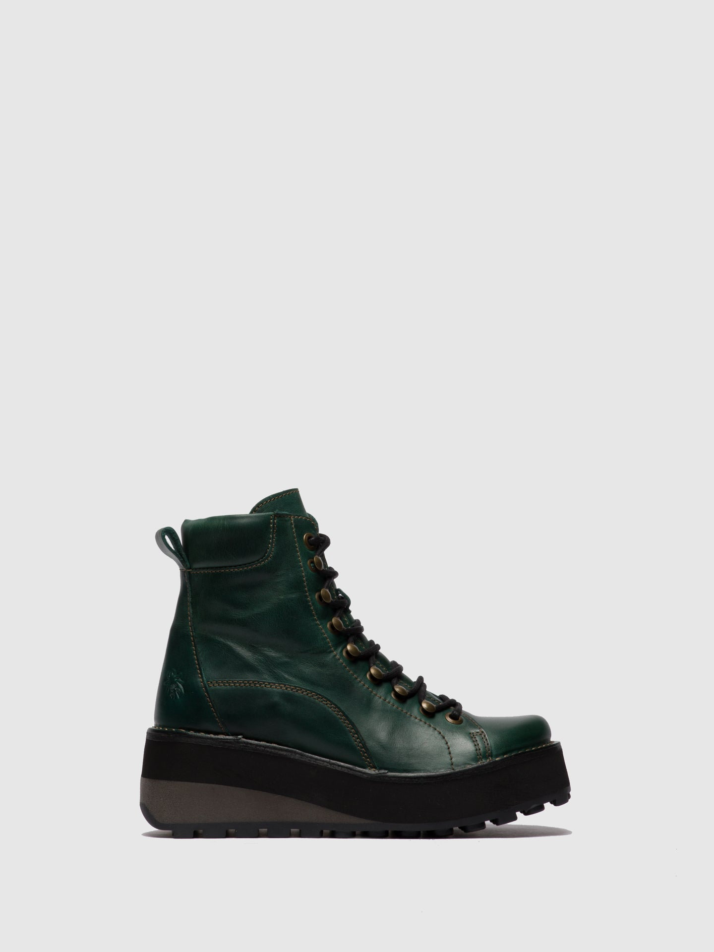Fly London Lace-up Ankle Boots HAKU019FLY PETROL