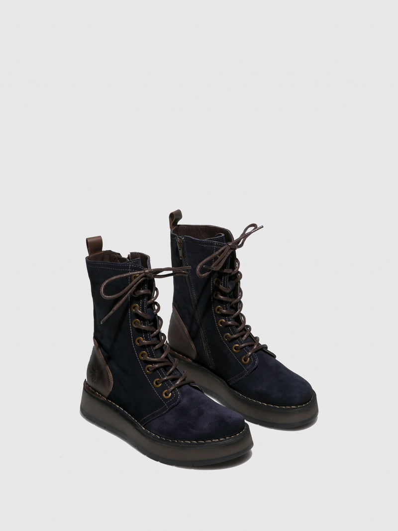 Lace-up Ankle Boots RAMI043FLY OILSUEDE/RUG NAVY/DK.BROWN